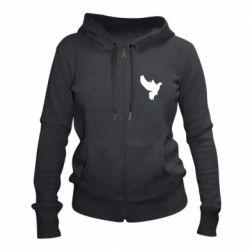 Женская толстовка на молнии Pigeon silhouette