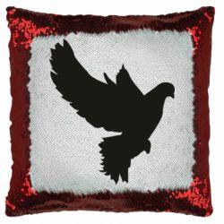 Подушка-хамелеон Pigeon silhouette