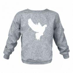 Детский реглан (свитшот) Pigeon silhouette