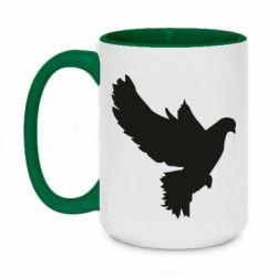 Кружка двухцветная 420ml Pigeon silhouette