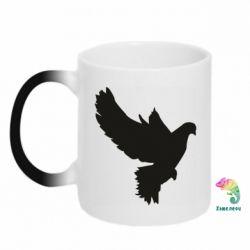 Кружка-хамелеон Pigeon silhouette