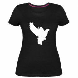 Женская стрейчевая футболка Pigeon silhouette