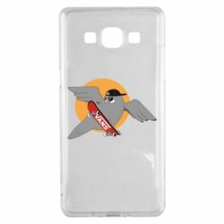 Чохол для Samsung A5 2015 Pigeon with skateboard