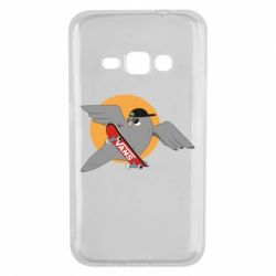Чохол для Samsung J1 2016 Pigeon with skateboard