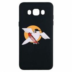 Чохол для Samsung J7 2016 Pigeon with skateboard