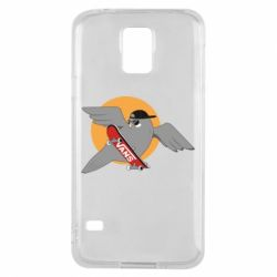 Чохол для Samsung S5 Pigeon with skateboard