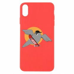 Чохол для iPhone X/Xs Pigeon with skateboard