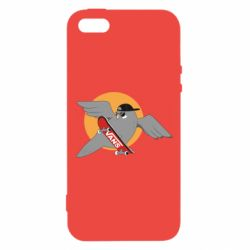 Чохол для iphone 5/5S/SE Pigeon with skateboard