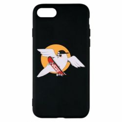Чохол для iPhone 7 Pigeon with skateboard