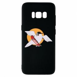 Чохол для Samsung S8 Pigeon with skateboard