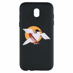 Чохол для Samsung J5 2017 Pigeon with skateboard