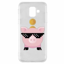 Чохол для Samsung A6 2018 Piggy bank