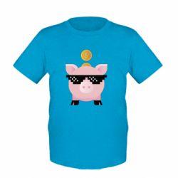 Дитяча футболка Piggy bank