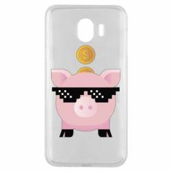 Чохол для Samsung J4 Piggy bank
