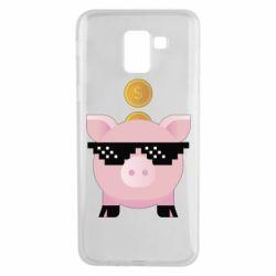 Чохол для Samsung J6 Piggy bank