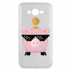 Чохол для Samsung J7 2015 Piggy bank