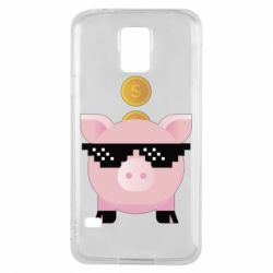 Чохол для Samsung S5 Piggy bank