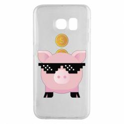 Чохол для Samsung S6 EDGE Piggy bank