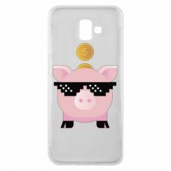 Чохол для Samsung J6 Plus 2018 Piggy bank
