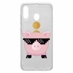 Чохол для Samsung A20 Piggy bank