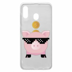 Чохол для Samsung A30 Piggy bank