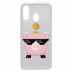 Чохол для Samsung A40 Piggy bank