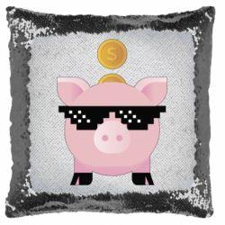 Подушка-хамелеон Piggy bank
