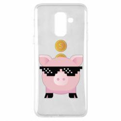 Чохол для Samsung A6+ 2018 Piggy bank