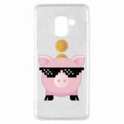 Чохол для Samsung A8 2018 Piggy bank