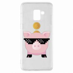 Чохол для Samsung A8+ 2018 Piggy bank