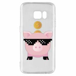 Чохол для Samsung S7 Piggy bank