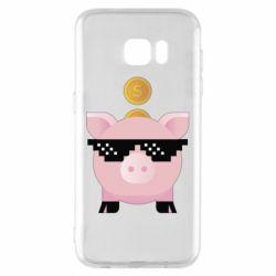 Чохол для Samsung S7 EDGE Piggy bank