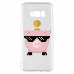 Чохол для Samsung S8 Piggy bank