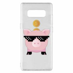 Чохол для Samsung Note 8 Piggy bank