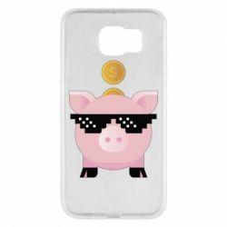 Чохол для Samsung S6 Piggy bank