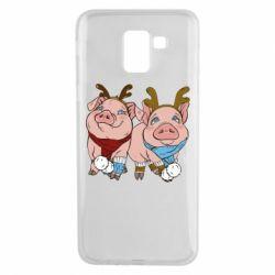 Чохол для Samsung J6 Pigs