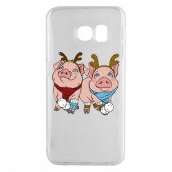 Чохол для Samsung S6 EDGE Pigs
