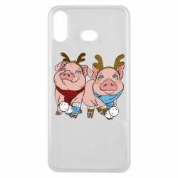 Чохол для Samsung A6s Pigs