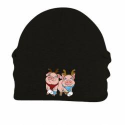 Шапка на флісі Pigs