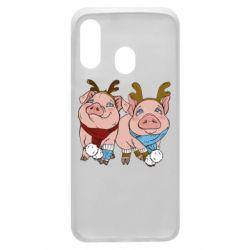 Чохол для Samsung A40 Pigs