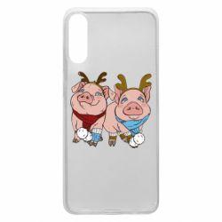 Чохол для Samsung A70 Pigs