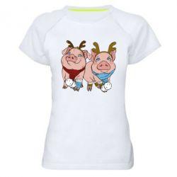 Жіноча спортивна футболка Pigs
