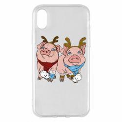 Чохол для iPhone X/Xs Pigs