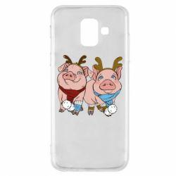 Чохол для Samsung A6 2018 Pigs