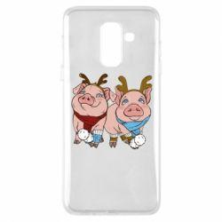 Чохол для Samsung A6+ 2018 Pigs