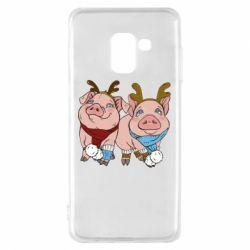 Чохол для Samsung A8 2018 Pigs