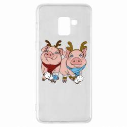 Чохол для Samsung A8+ 2018 Pigs