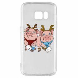 Чохол для Samsung S7 Pigs