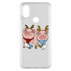 Чохол для Xiaomi Mi A2 Pigs