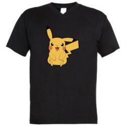 Мужская футболка  с V-образным вырезом Pika Pika
